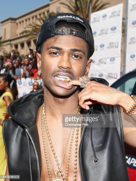 Rapper Big Sean arrives at the 2012 BET Awards at The Shrine Auditorium on July 1 2012 in Los Angeles California