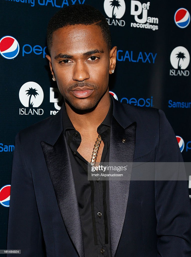 Rapper <a gi-track='captionPersonalityLinkClicked' href=/galleries/search?phrase=Big+Sean&family=editorial&specificpeople=4449582 ng-click='$event.stopPropagation()'>Big Sean</a> attends the Island Def Jam Grammy Party sponsored by Samsung and Pepsi at Osteria Mozza on February 10, 2013 in Los Angeles, California.