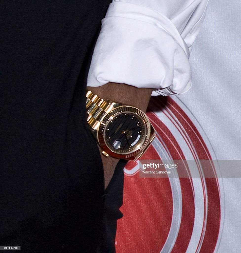 Rapper Big Sean (watch detail) attends VIBE Magazine's 20th anniversary celebration with inaugural impact awards - Arrivals at Sunset Tower on February 8, 2013 in West Hollywood, California.