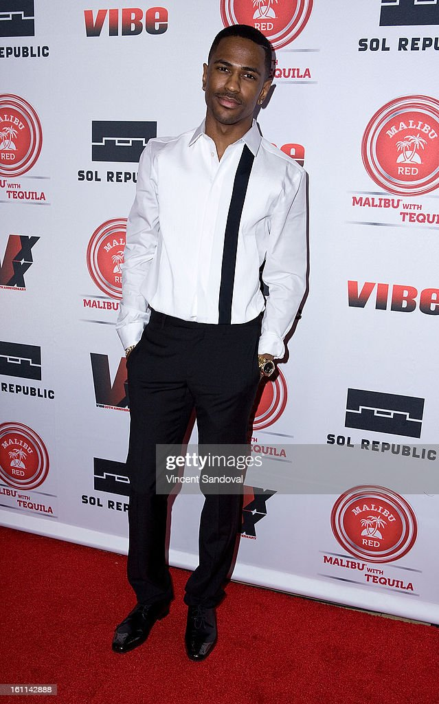 Rapper Big Sean attends VIBE Magazine's 20th anniversary celebration with inaugural impact awards - Arrivals at Sunset Tower on February 8, 2013 in West Hollywood, California.