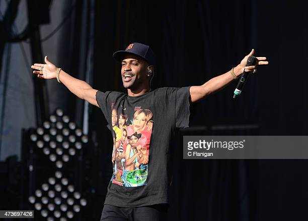 Rapper Big Sean performs during Rock in Rio USA at MGM Resorts Festival Grounds on May 16 2015 in Las Vegas Nevada