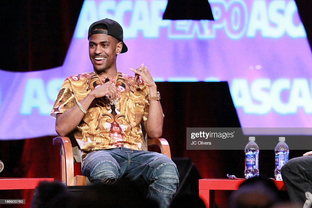 Rapper <a gi-track='captionPersonalityLinkClicked' href=/galleries/search?phrase=Big+Sean&family=editorial&specificpeople=4449582 ng-click='$event.stopPropagation()'>Big Sean</a> speaks at the 8th Annual ASCAP 'I Create Music' EXPO at Loews Hollywood Hotel on April 18, 2013 in Hollywood, California.