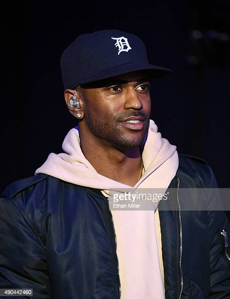 Rapper Big Sean waits to be introduced at the 2015 iHeartRadio Music Festival at MGM Grand Garden Arena on September 19 2015 in Las Vegas Nevada