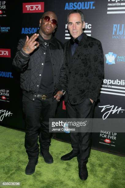 Rapper Birdman and CEO of Republic Records Monte Lipman at a celebration of music with Republic Records in partnership with Absolut and Pryma at...