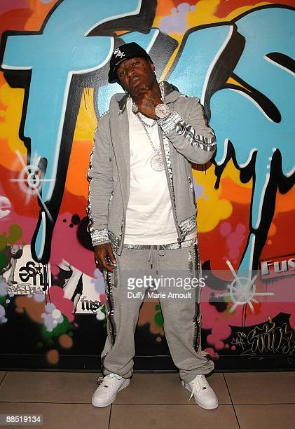 Rapper Birdman visits Fuse's 'No 1 Countdown' at Fuse Studios on June 16 2009 in New York City