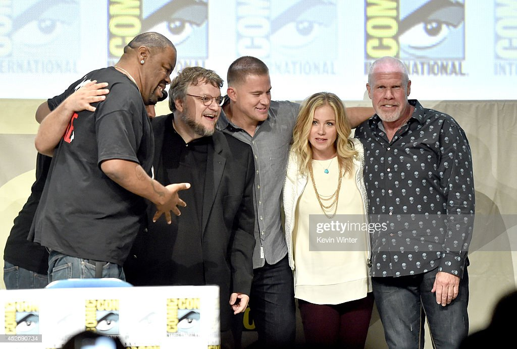 Rapper Biz Markie, director Guillermo del Toro, actors Channing Tatum, Christina Applegate, and Ron Perlman attend the 20th Century Fox presentation during Comic-Con International 2014 at San Diego Convention Center on July 25, 2014 in San Diego, California.