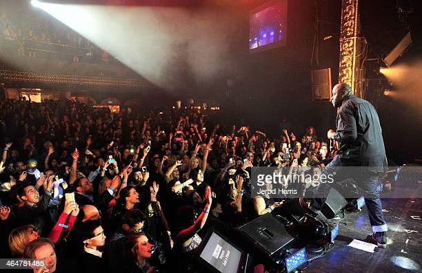 Rapper Biz Markie performs onstage at the william hosted third annual TRANS4M concert benefitting the iamangel Foundation at Avalon on January 23...