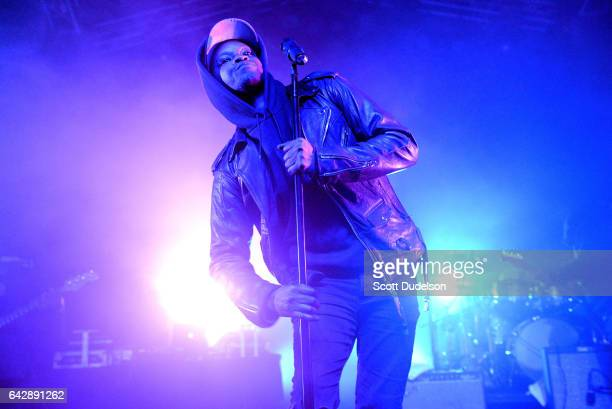 Rapper BJ the Chicago Kid performs onstage during the 2017 Soulquarius Festival at The Observatory on February 18 2017 in Santa Ana California