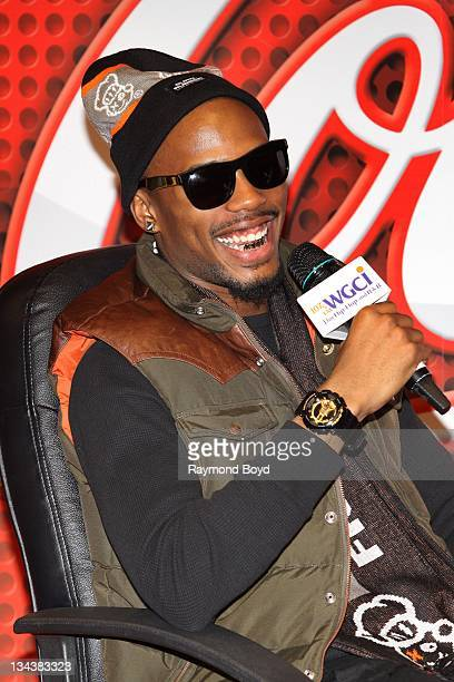Rapper BoB is interviewed during his visit to the WGCIFM 'CocaCola Lounge' in Chicago Illinois on NOVEMBER 08 2011