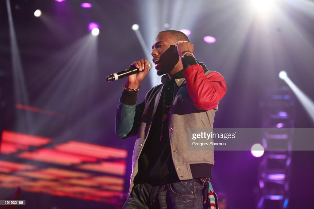 Rapper B.o.B performs during the Sprint NBA All-Star Pregame Concert in Sprint Arena during the NBA All-Star Weekend on February 17, 2013 at the George R. Brown Convention Center in Houston, Texas.