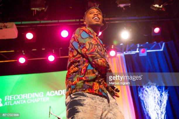 Rapper BoB performs on stage during the Recording Academy Atlanta Chapter Annual Membership Celebration at The Buckhead Theatre on July 20 2017 in...