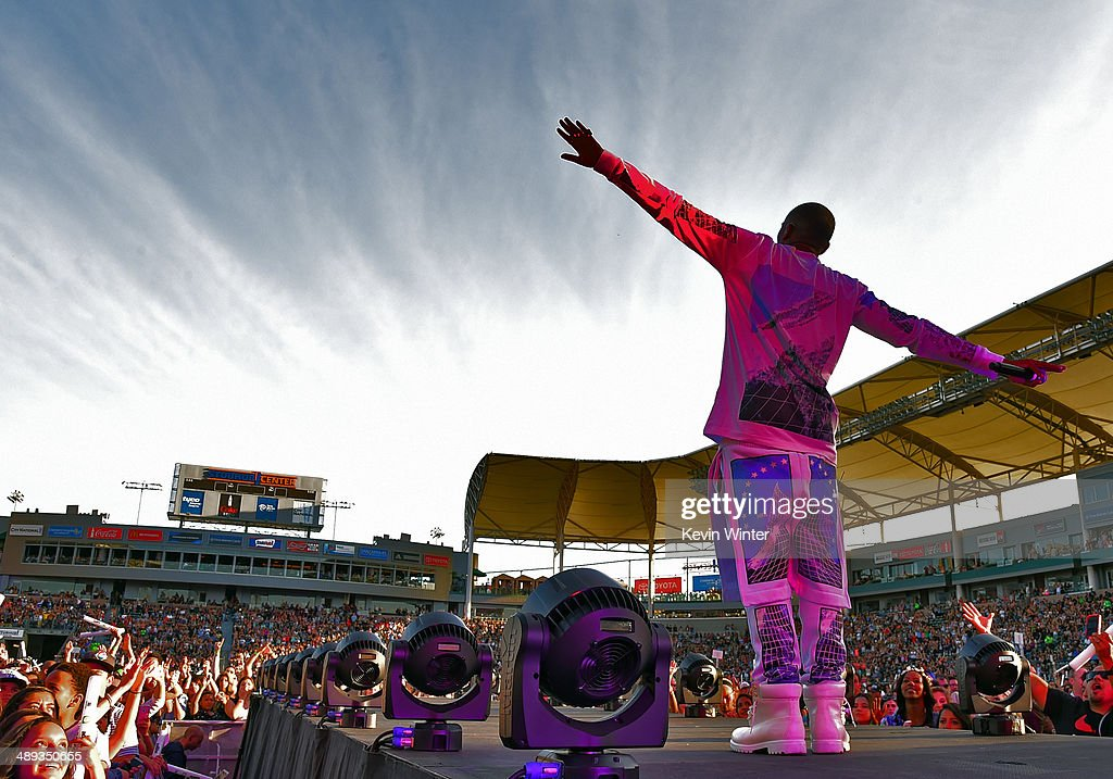 Rapper BoB performs onstage during 1027 KIIS FM's 2014 Wango Tango at StubHub Center on May 10 2014 in Los Angeles California