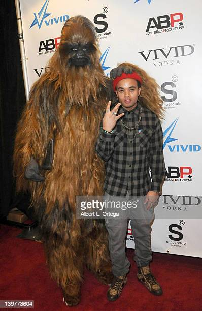 Rapper Bobby Brackins arrives for the Premiere Of Vivid Entertainment's 'Star Wars XXX A Porn Parody' held at SupperClub on February 23 2012 in...