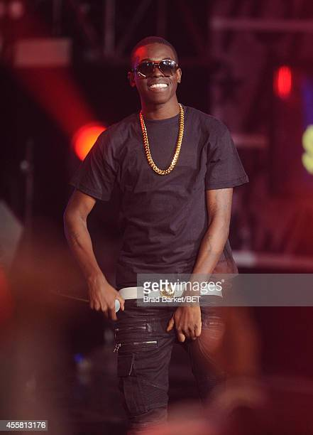 Rapper Bobby $hmurda performs onstage during the BET Hip Hop Awards 2014 at Boisfeuillet Jones Atlanta Civic Center on September 20 2014 in Atlanta...