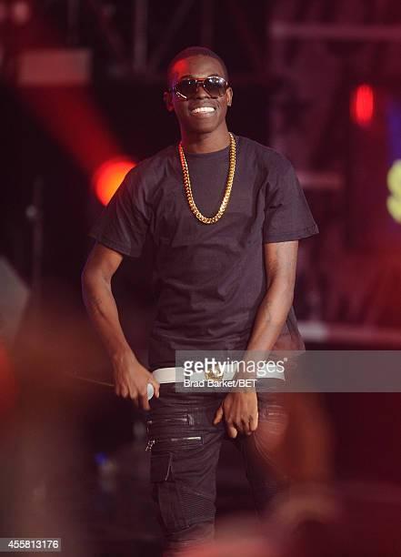 Rapper Bobby $hmurda performs onstage during the BET Hip Hop Awards 2014 at Boisfeuillet Jones Atlanta Civic Center on September 20 2014 in Atlanta...