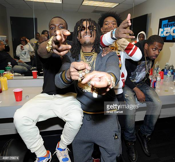 Rapper Bobby Shmurda and rappers Quavo and Offset of Migos pose backstage at Power 1051's Powerhouse 2014 at Barclays Center of Brooklyn on October...