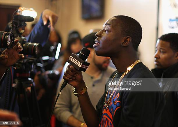 Rapper Bobby Shmurda is interviewed at Power 1051's Powerhouse 2014 at Barclays Center of Brooklyn on October 30 2014 in New York City