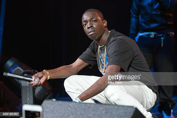 Rapper Bobby Shmurda performs on stage during Power 1051's Powerhouse 2014 at Barclays Center on October 30 2014 in New York City
