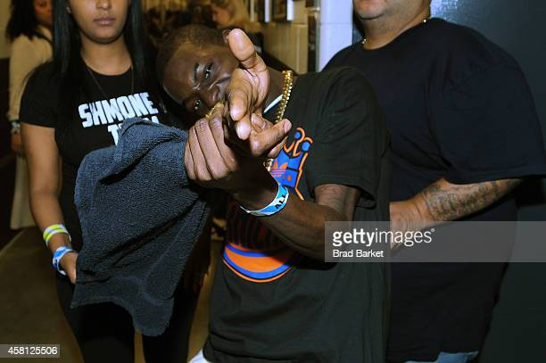 Rapper Bobby Shmurda poses backstage at Power 1051's Powerhouse 2014 at Barclays Center of Brooklyn on October 30 2014 in New York City