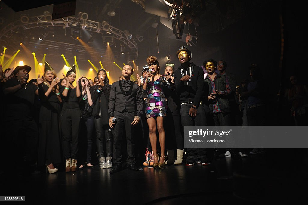 Rapper Bow Wow (C) and Miss Mykie host BET's 106 And Park 2013 New Years Eve Party at BET Studios on December 17, 2012 in New York City.