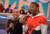 Rapper Bow Wow and rapper Shorty da Prince cohost BET's 106th Park show at 106 Park Studio on March 20 2013 in New York City