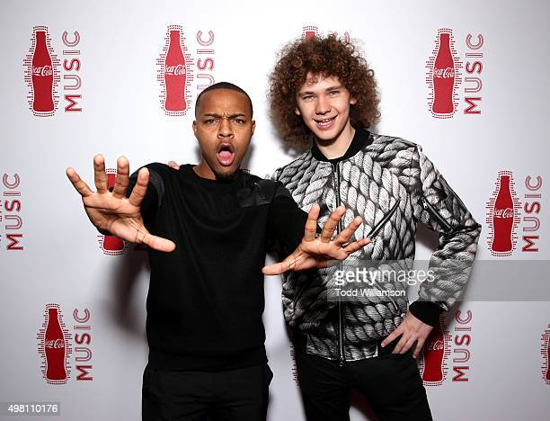 Rapper Bow Wow and singer Francesco Yates attend the 2015 American Music Awards Pre Party with CocaCola at the Conga Room on November 20 2015 in Los...