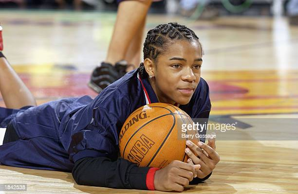 Rapper Bow Wow before the Phoenix Suns Third Annual celebrity shootout at America West Arena on February 16 2003 in Phoenix Arizona NOTE TO USER User...