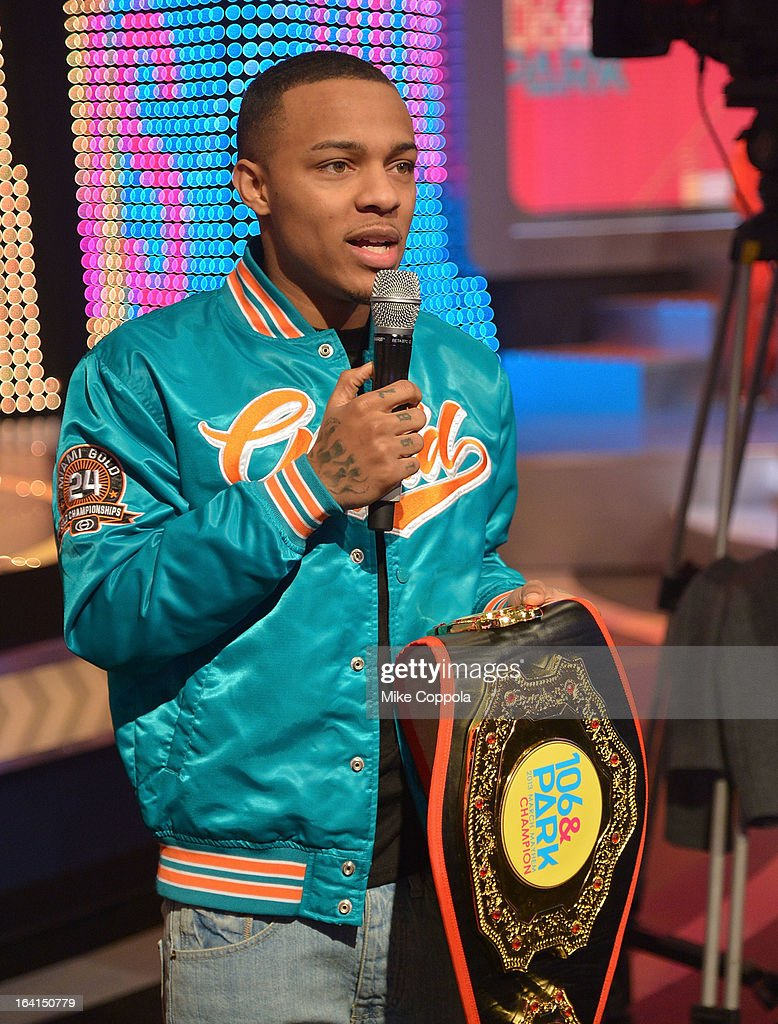 Rapper Bow Wow co-hosts BET's 106th & Park show at 106 & Park Studio on March 20, 2013 in New York City.