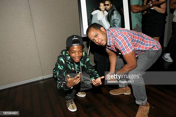 Rapper Brian 'Astro' Bradley and photographer Johnny Nunez attend the BET Music Matters 'Press Play' event Powered by Monster at TWELVE Atlantic...