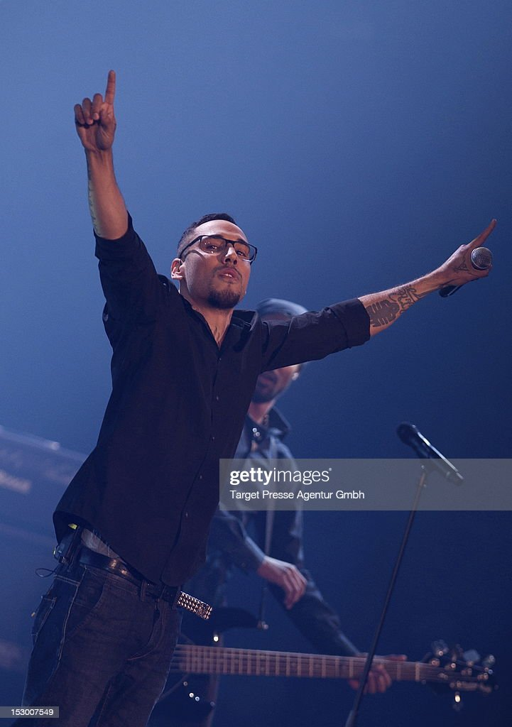 Rapper B-Tight performs during the 'Bundesvision Song Contest 2012' at the Max-Schmeling-Halle on September 28, 2012 in Berlin, Germany.