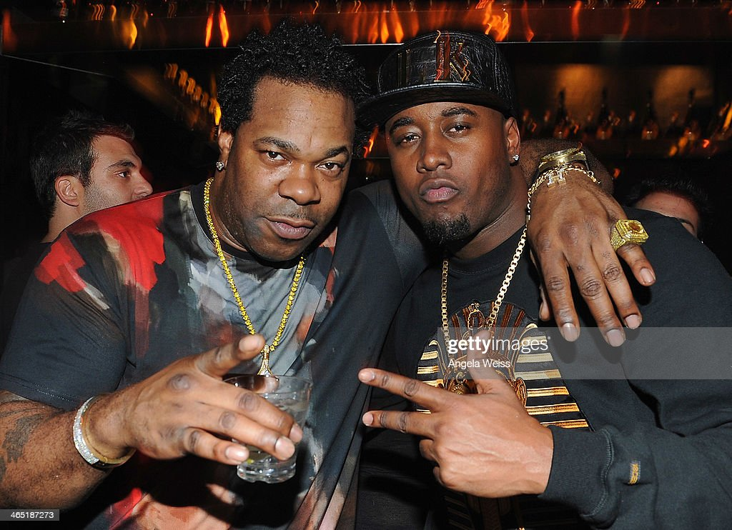 Rapper <a gi-track='captionPersonalityLinkClicked' href=/galleries/search?phrase=Busta+Rhymes&family=editorial&specificpeople=208120 ng-click='$event.stopPropagation()'>Busta Rhymes</a> and producer The Dream attend the 1 OAK LA Grand Opening Weekend hosted by Jay Z and presented by D'usse on January 25, 2014 in Los Angeles, California.