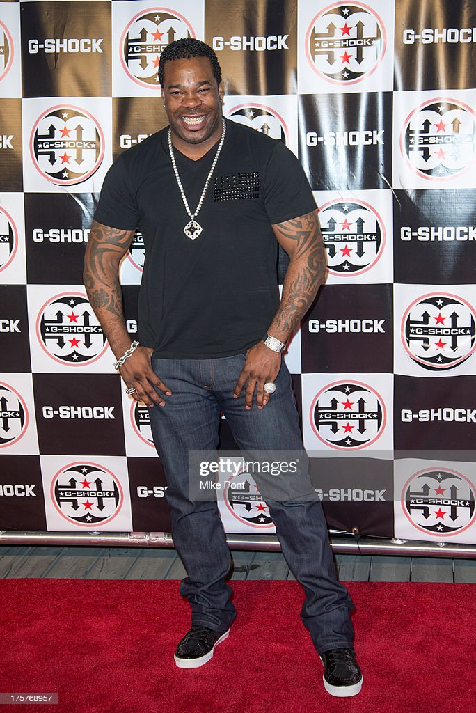 Rapper Busta Rhymes attends G-Shock - Shock The World 2013 at Basketball City - Pier 36 - South Street on August 7, 2013 in New York City.