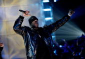 Rapper Busta Rhymes BET's Rip the Runway 2009 at the Hammerstein Ballroom on February 21 2009 in New York City