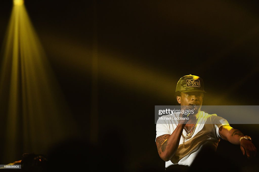 Rapper Ca$h Out performs during BET's 106 And Park 2013 New Years Eve Party at BET Studios on December 17, 2012 in New York City.