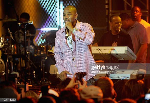 Rapper Cam'ron performs at a One Night Only show for AXE Music at Capitale on August 16 2010 in New York City