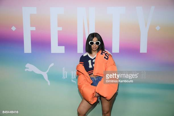 Rapper Cardi B attends the FENTY PUMA by Rihanna Spring/Summer 2018 Collection at Park Avenue Armory on September 10 2017 in New York City