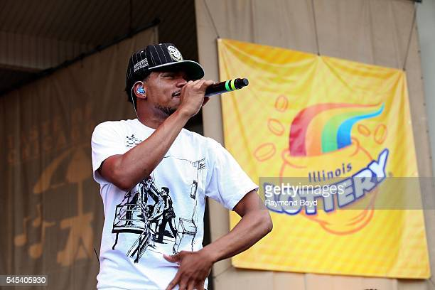 Rapper Chance The Rapper performs at the Petrillo Music Shell during the 36th Annual 'Taste Of Chicago' on July 6 2016 in Chicago Illinois