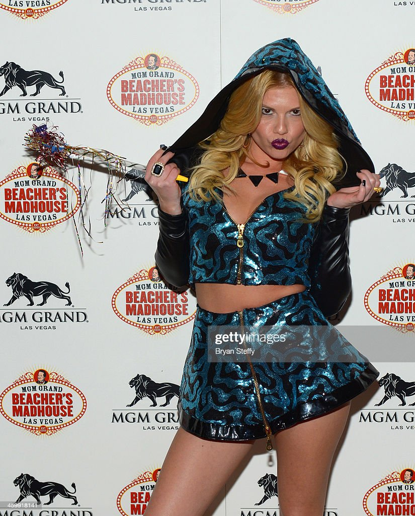 Rapper Chanel West Coast arrives at the New Year's Eve 2014 celebration at Beacher's Madhouse Las Vegas at the MGM Grand Hotel/Casino on December 31, 2013 in Las Vegas, Nevada.