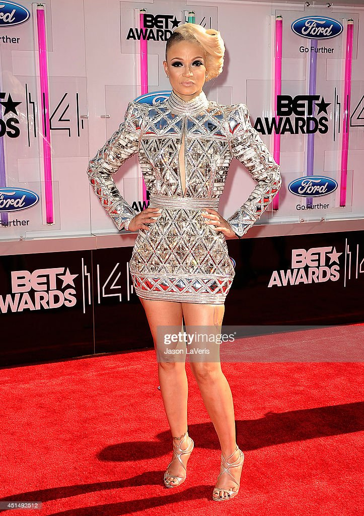 Rapper Charli Baltimore attends the 2014 BET Awards at Nokia Plaza LA LIVE on June 29 2014 in Los Angeles California