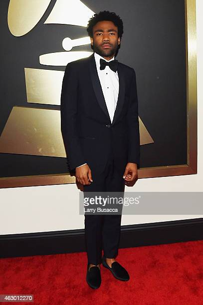 Rapper Childish Gambino attends The 57th Annual GRAMMY Awards at the STAPLES Center on February 8 2015 in Los Angeles California