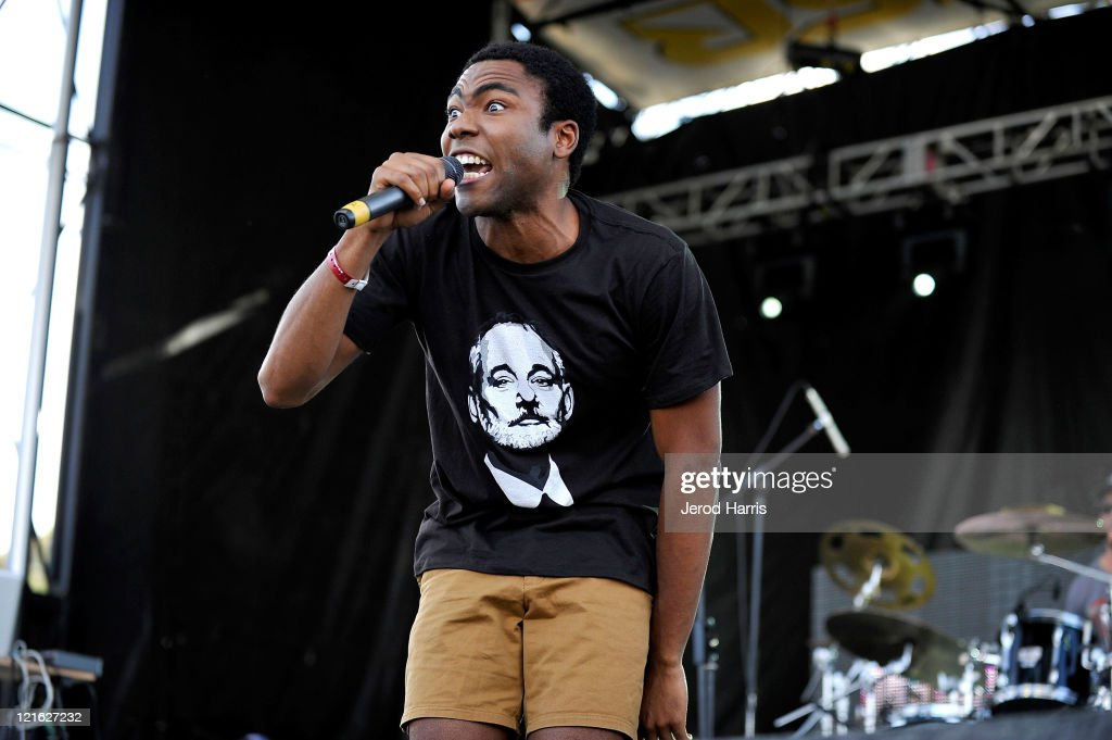 Rapper Childish Gambino performs at the 8th annual Rock The Bells festival sponsored by Reebok at San Manuel Amphitheater on August 20 2011 in Los...