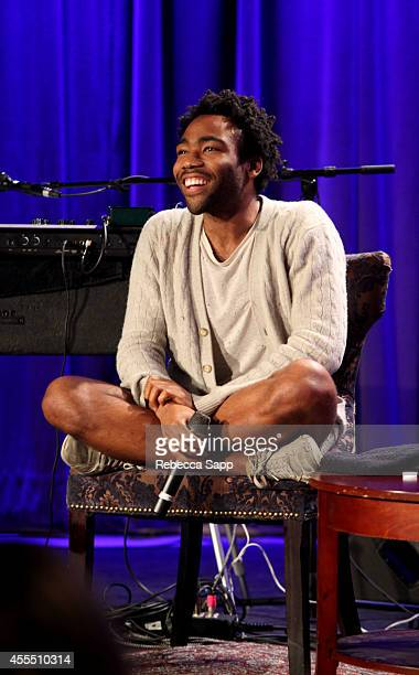 Rapper Childish Gambino speaks onstage at Spotlight Childish Gambino at The GRAMMY Museum on September 15 2014 in Los Angeles California
