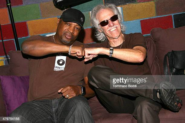 Rapper Chuck D and musician John Densmore attend the Record Store Day LA press conference 2014 held at Amoeba Music on March 20 2014 in Hollywood...