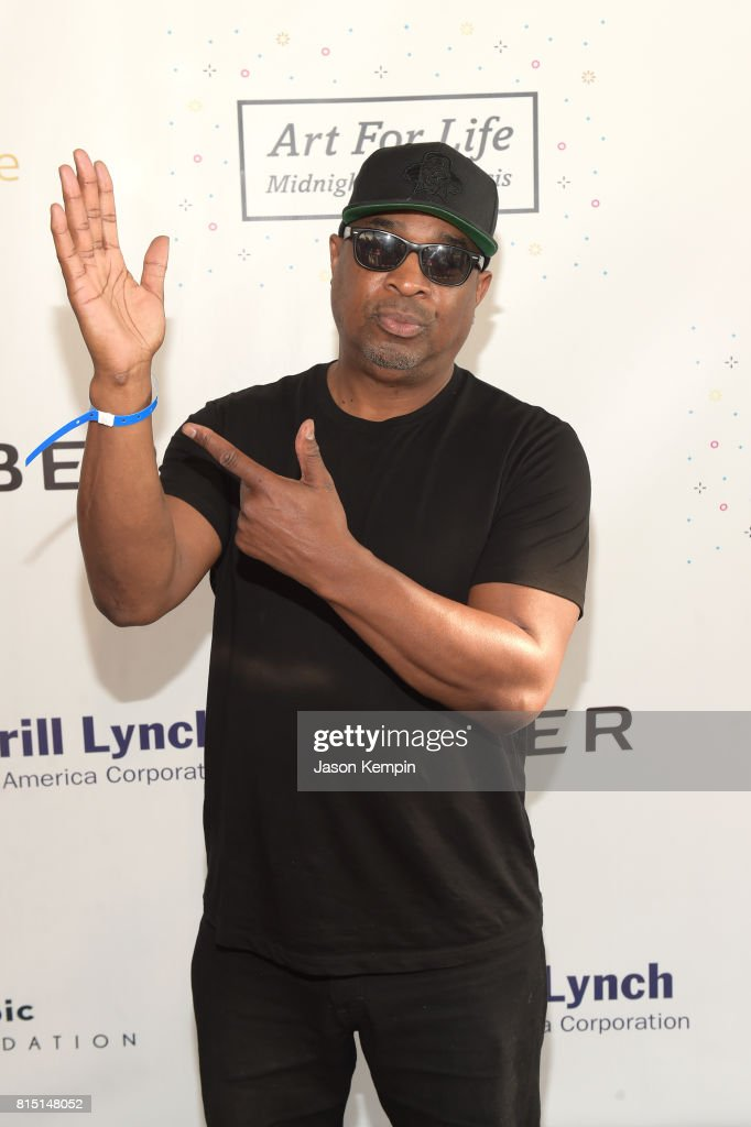 Rapper Chuck D attends 'Midnight At The Oasis' Annual Art For Life Benefit hosted by Russell Simmons' Rush Philanthropic Arts Foundation at Fairview Farms on July 15, 2017 in Water Mill, New York.