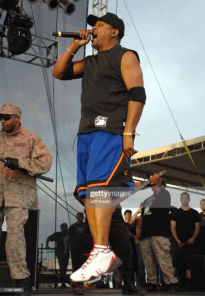 Rapper Chuck D from the rap group Public Enemy performs during the Vegoose Music Festival 2007 at Sam Boyd Stadium on October 27, 2007 in Las Vegas, Nevada.