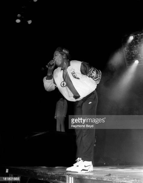 Chuck D of Public Enemy performs at Joe Louis Arena in Detroit Michigan in JULY 1990