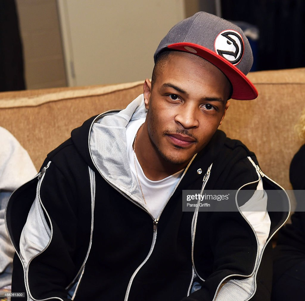 Rapper Clifford '<a gi-track='captionPersonalityLinkClicked' href=/galleries/search?phrase=T.I.&family=editorial&specificpeople=221599 ng-click='$event.stopPropagation()'>T.I.</a>' Harris backstage at Philips Arena on November 1, 2014 in Atlanta, Georgia.
