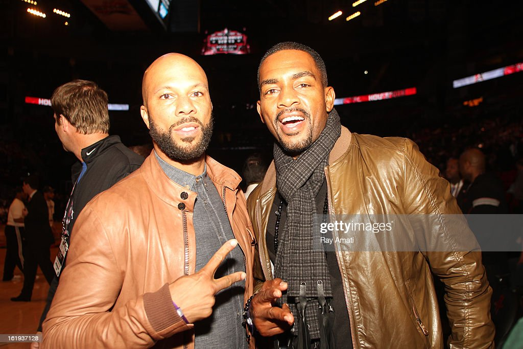 Rapper Common and Bill Bellamy pose for a portrait during the 2013 NBA All-Star Game during All Star Weekend on February 17, 2013 at the Toyota Center in Houston, Texas.