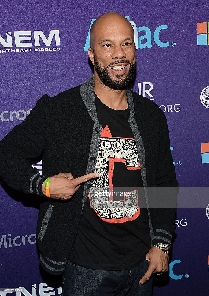 Rapper Common attends the Inaugural Youth Ball hosted by OurTime.org at Donald W. Reynolds Center on January 19, 2013 in Washington, United States.