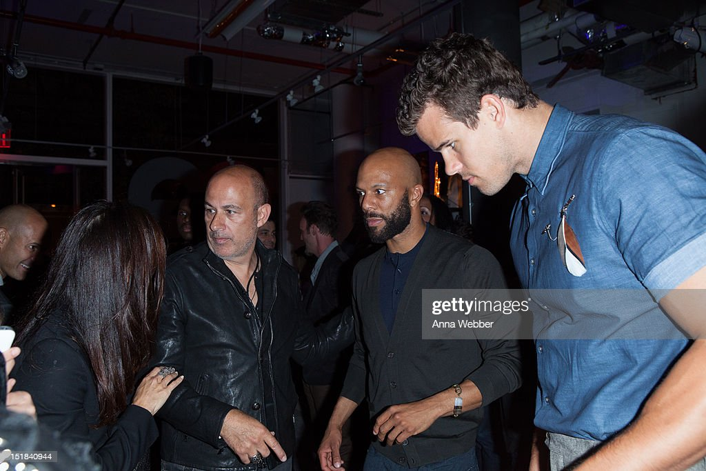 Rapper Common, John Varvatos and <a gi-track='captionPersonalityLinkClicked' href=/galleries/search?phrase=Kris+Humphries&family=editorial&specificpeople=209199 ng-click='$event.stopPropagation()'>Kris Humphries</a> attend the GQ, Chrysler, And John Varvatos Celebrate The Launch Of The 2013 Chrysler 300C on September 11, 2012 in New York City.